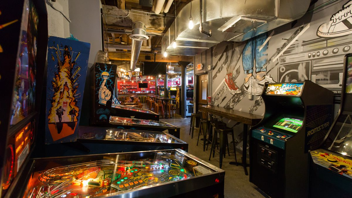 Inside Ready Player One Downtown S Bat Arcade Bar