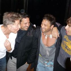 The old boys' club.  (L-R) Calvin Klein, Narciso Rodriguez, David Barton and Steven Klein