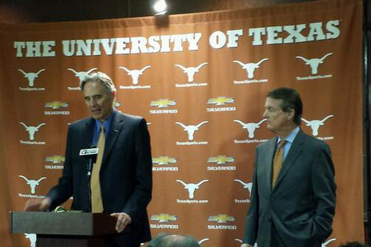 Steve Patterson (left) and Bill Powers at Thursday's press conference.