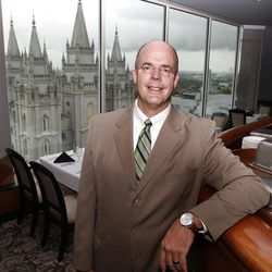Brent Shingleton, President and CEO  at the Joseph Smith Memorial Building for a special section on Hotel Utah's centennial Wednesday, May 18, 2011, above Salt Lake City, Utah.