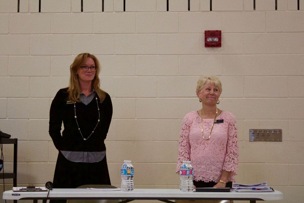 Democrat Rebecca McClellan, left, and  incumbent Republican Debora Scheffel.