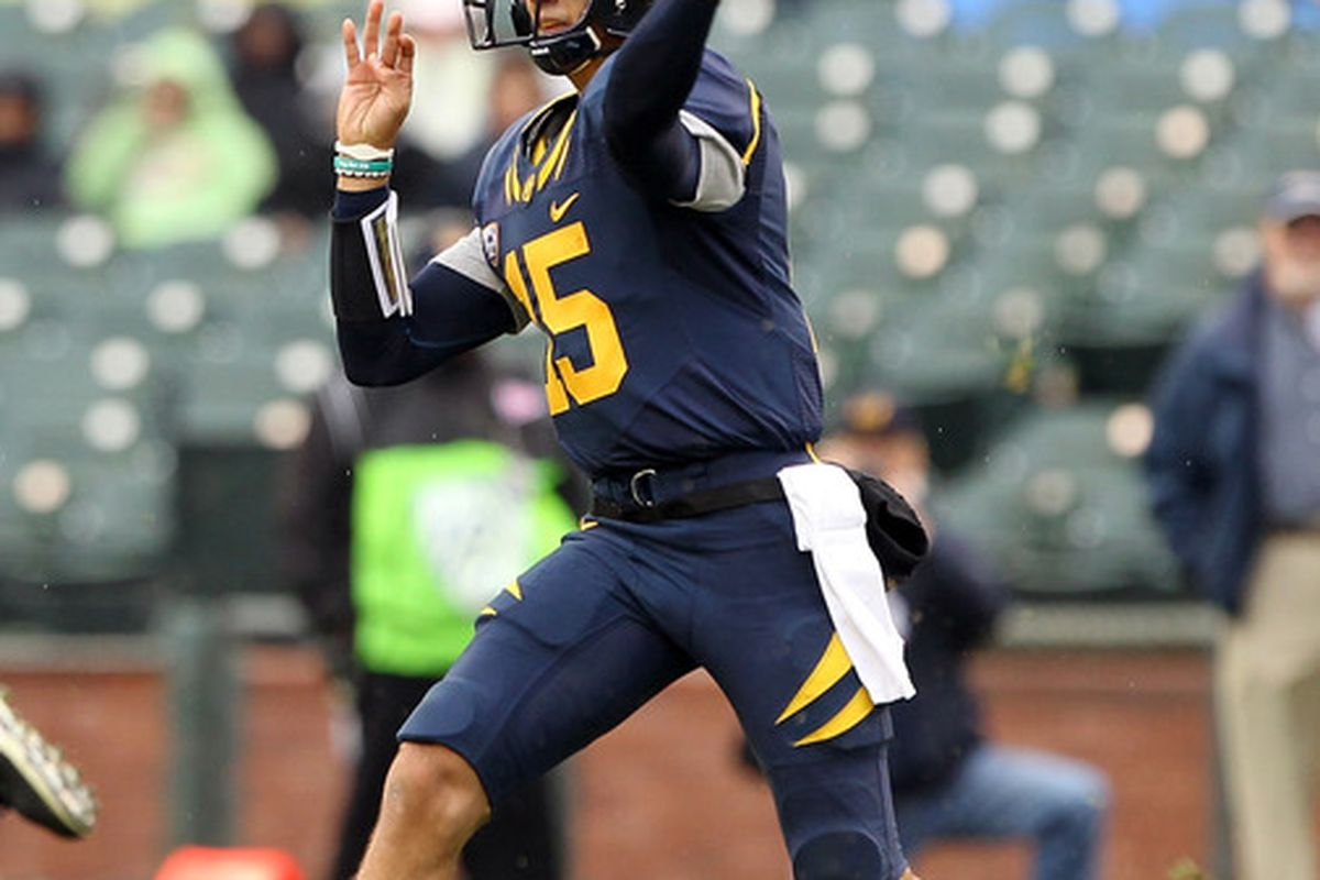 Zach Maynard completed 19 of 29 passes for 255 yards and 1 TD, and threw 0 INTs, in last year's 34-10 win over Utah.
