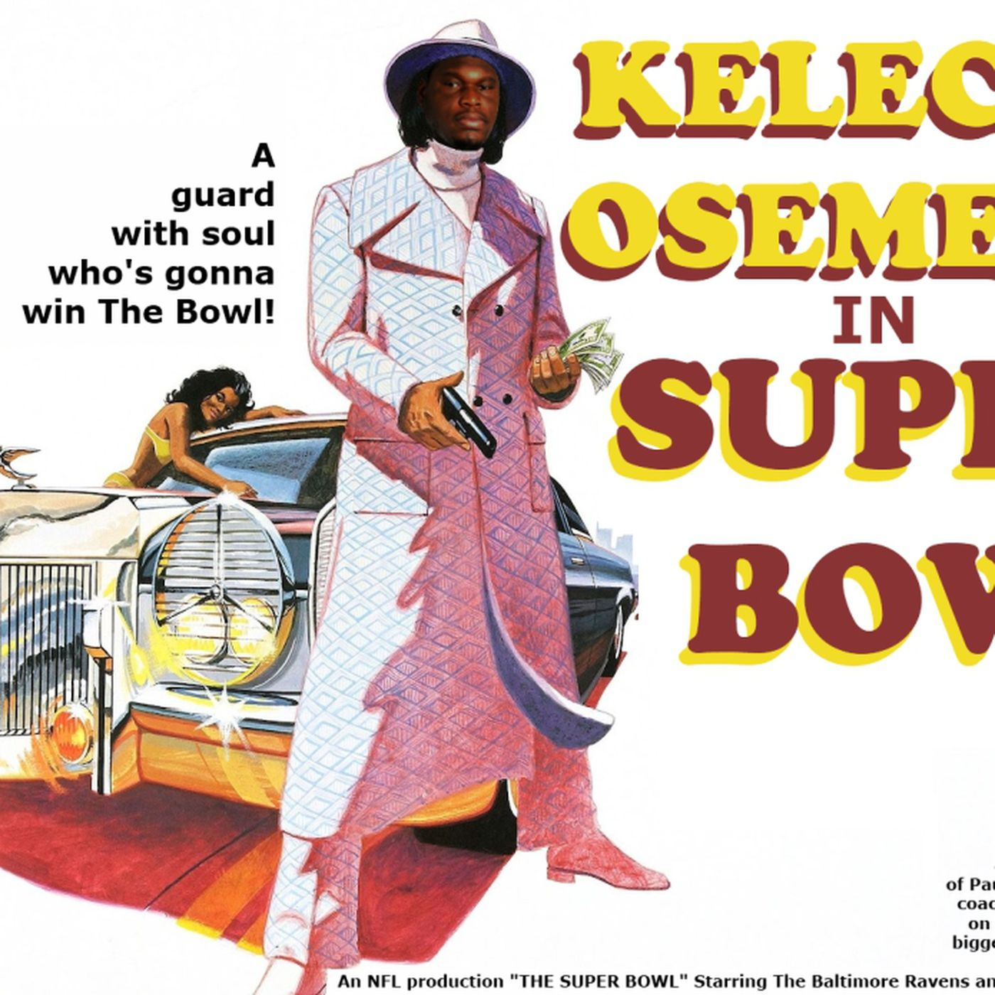 Kelechi Osemele In Super Bowl Wide Right Natty Lite