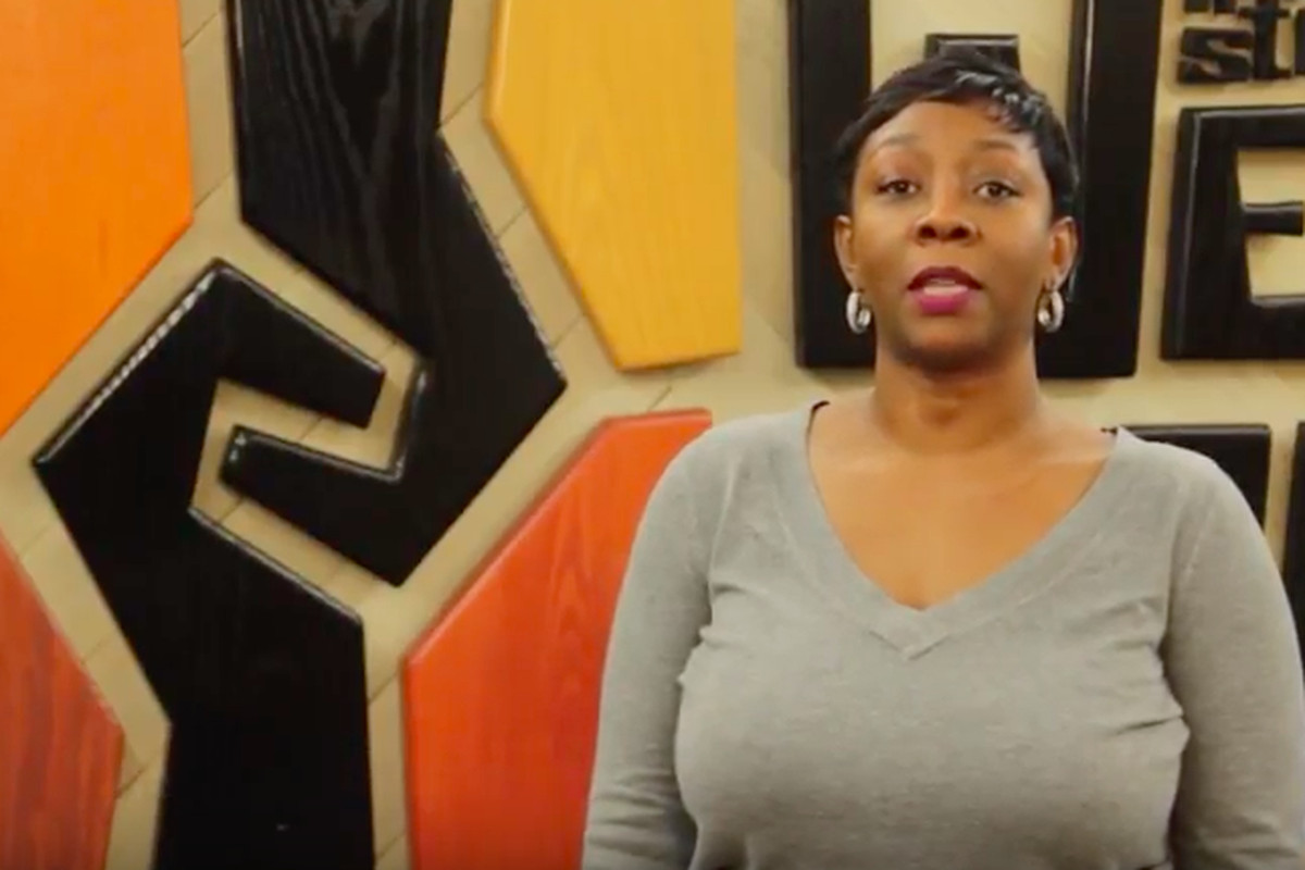 Shawness Woods-Zende, a Detroit parent and instructional coach, shares her experience in the Detroit schools story booth.