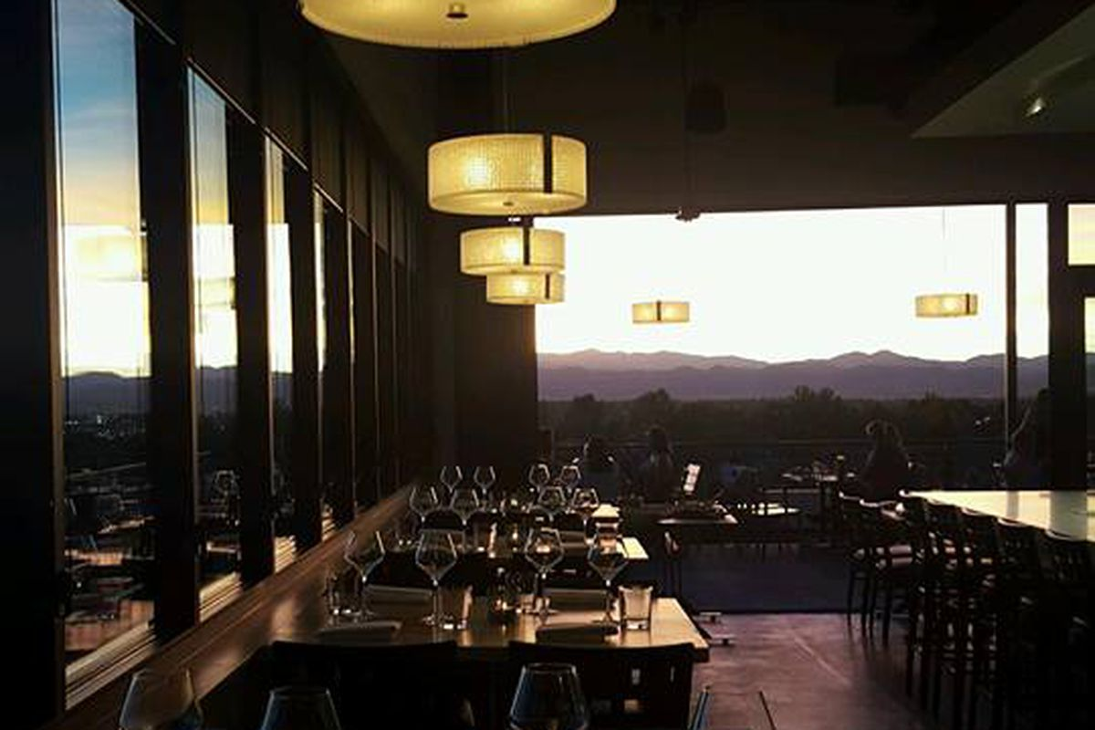 The space boasts stunning views of the Rockies.