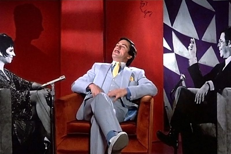 Rupert Pupkin (Robert De Niro) fantasizes by night about being on Jerry Langford's show with his heroes.