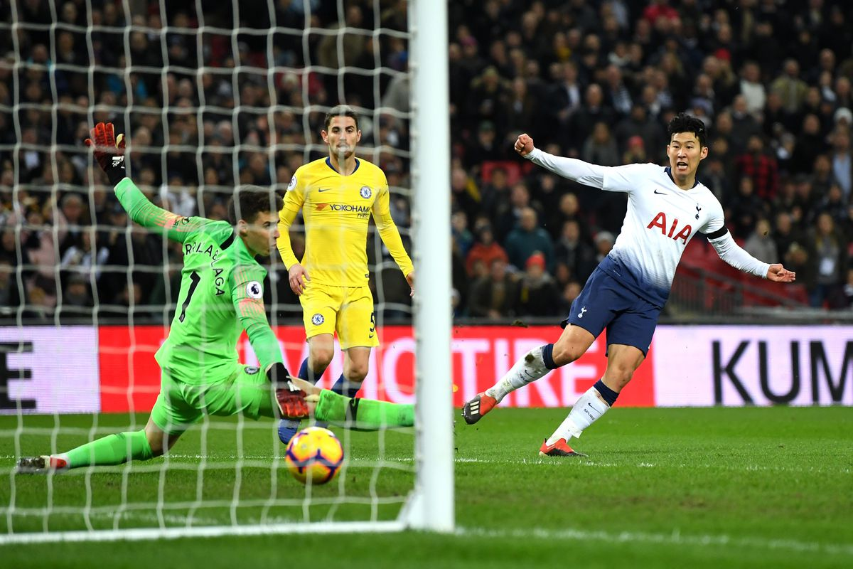 Image result for Son Heung-Min vs chelsea
