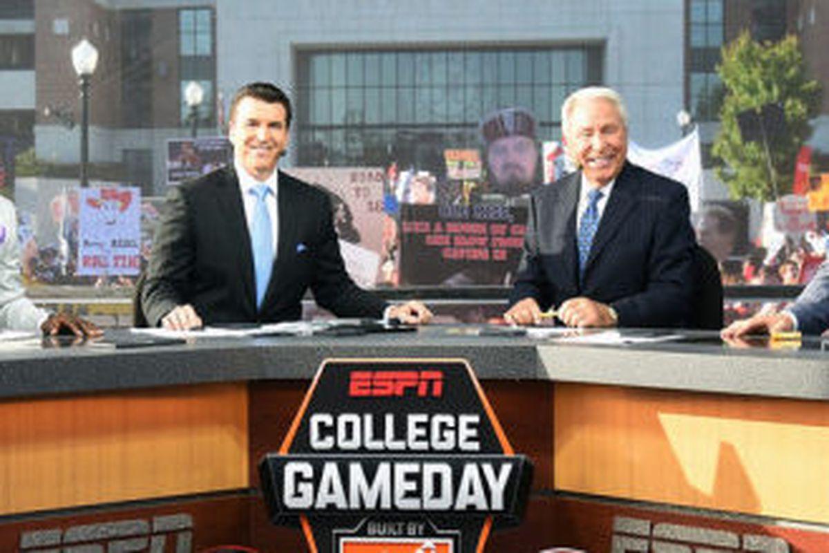 ESPN's College Football Gameday crew at Alabama (Photo: ESPN Media Zone)