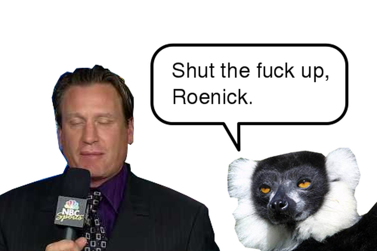 The lemur is on to you, shit-eater.