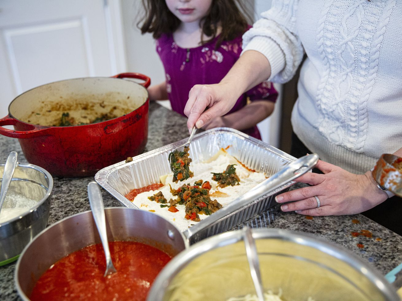 """""""Teaching mysel to cook new things"""" was one of the ways Julia Doyle has made it through a year of pandemic."""