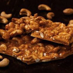 Mama's Nuts has sweet and savory nuts, plus a selection of brittles, for $7 to $10.