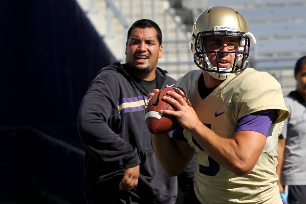 Jeff Lindquist will be the first Husky quarterback to take the field against Hawaii.