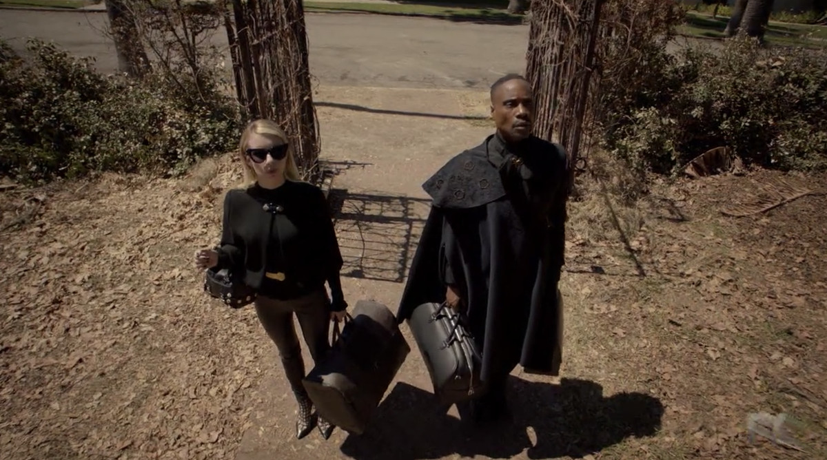 Madison Montgomery (Emma Roberts) and Chablis (Billy Porter) arrive at the Murder House