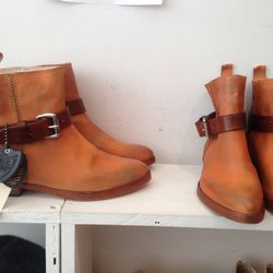 Handmade all-leather Gwen boot, $96