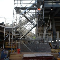 6:23 p.m. The right-field corner staircase -