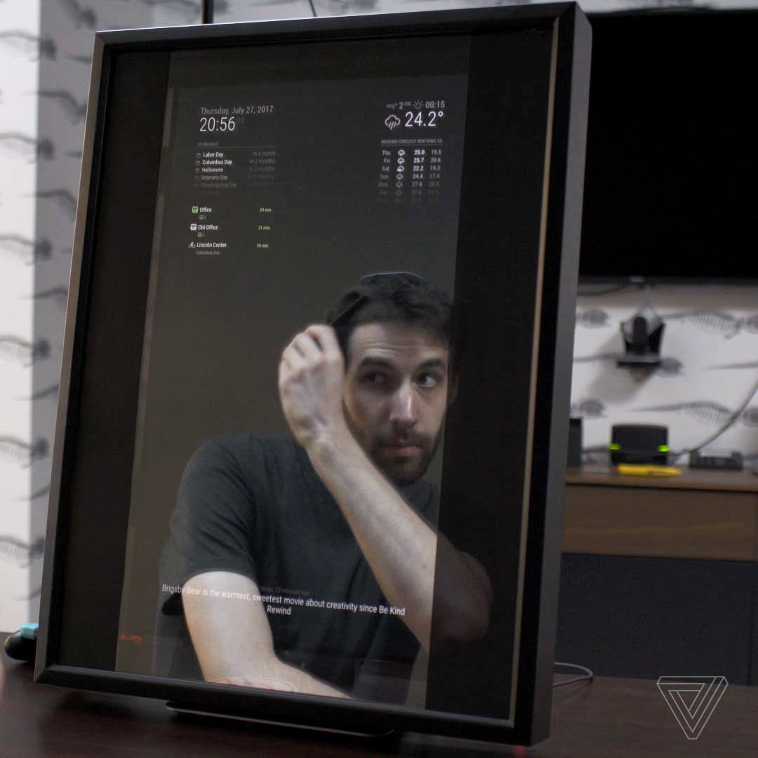 Building Your Own Smart Mirror Is Surprisingly Easy The Verge For Laptop Monitor Wiring Diagram Once Youve Got Everything Installed And Arranged To Liking Its Time Turn Screen Into A Do That Put Two Way