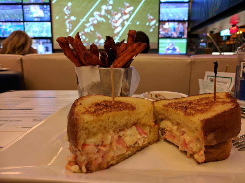 Lobster grilled cheese at Lagasse's Stadium
