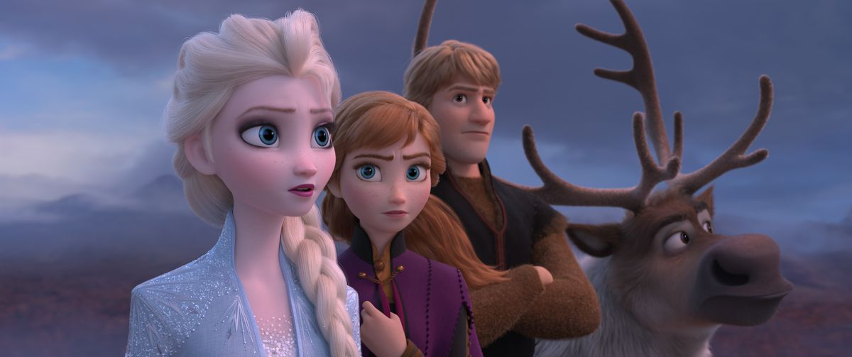 the frozen crew looks out into the distance