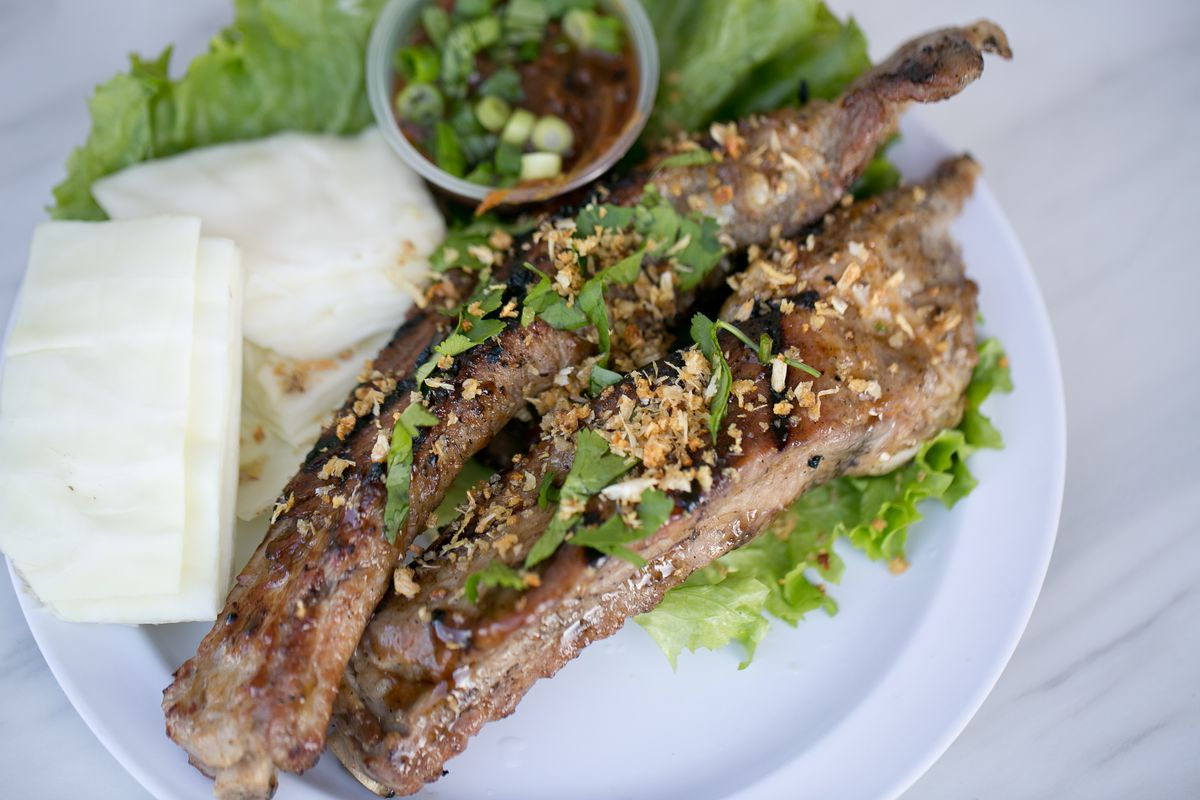 Chargrilled lemongrass ribs
