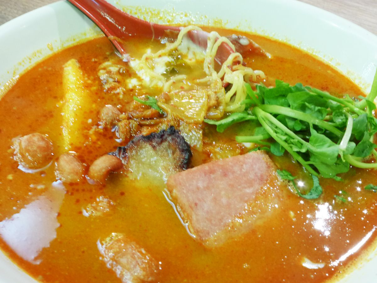 Army budae ramen has spam and several other unexpected ingredients fit for a soldier's mess...