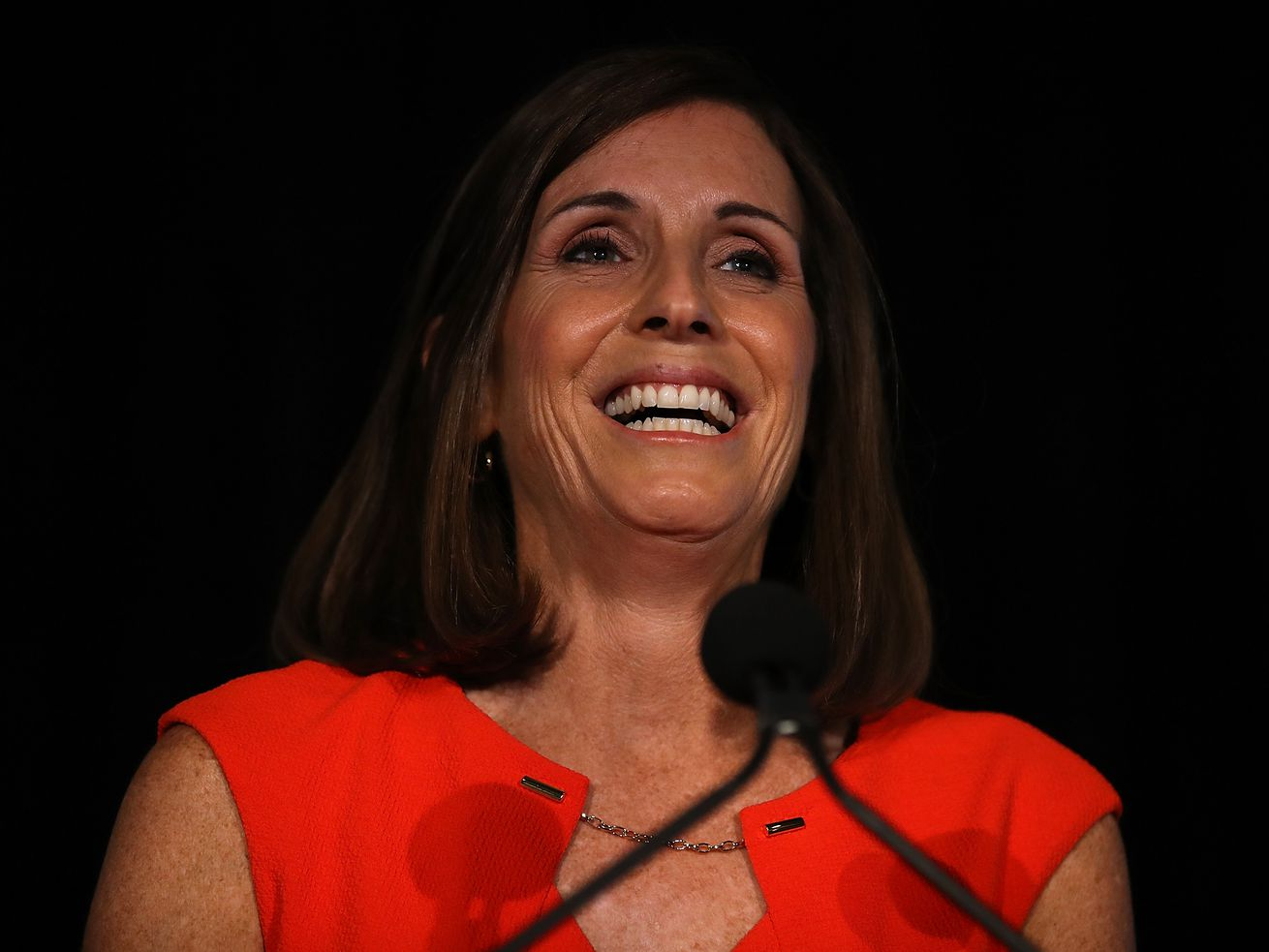 Rep. Martha McSally speaks during an event in Tempe, Arizona.