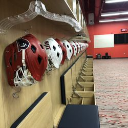 The Highlanders received two STX Stallion helmets, a matte red and a glossy white. They will receive the Rival helmets for next season. The players enjoyed wearing the Stallion helmets last season and picked them prior to the start of last year.
