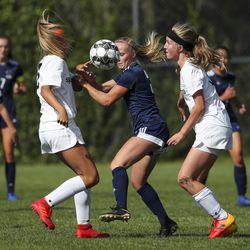 Action in the Murray vs. Skyline Region 6 girls soccer game in Salt Lake City on Tuesday, Sept. 17, 2019. Skyline won 3-0.