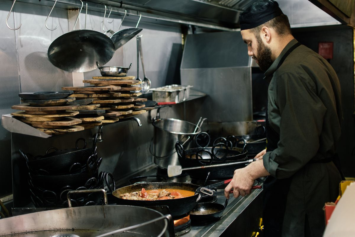 Chef-owner Hamid in the kitchen at Namak Mandi, a Pakistani restaurant in Tooting, south London