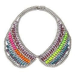 "Dannijo at Charm and Chain, <a href= ""http://www.charmandchain.com/products/hixson-necklace""> Hixson Bib Necklace</a>, $745.00"