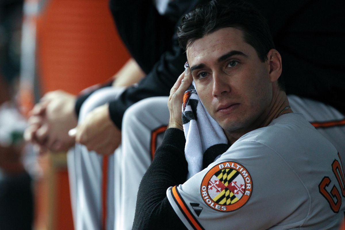 """I have a strange fascination with """"Miguel Gonzalez in the dugout"""" pictures."""