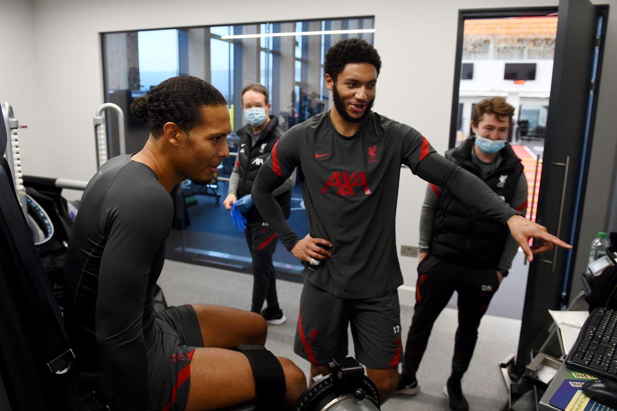 Virgil van Dijk and Joe Gomez Continues Rehabilitation at Liverpool