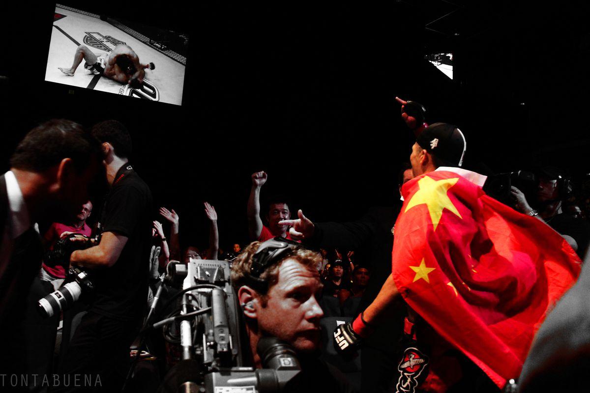 TUF: China winner Zhang Lipeng celebrates his win in Macau