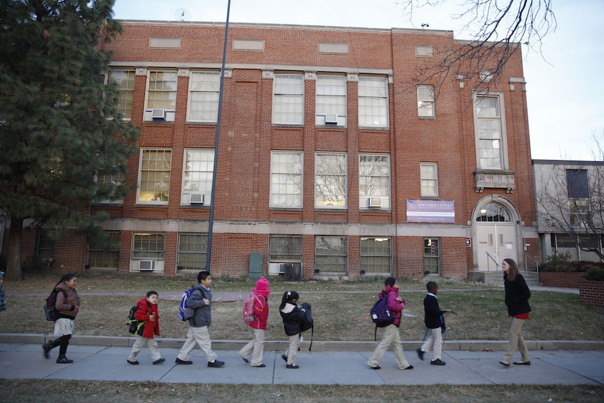 Students at University Prep, a public charter school located in a formerly-closed Denver Public Schools facility.