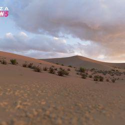 The Sand Desert biome