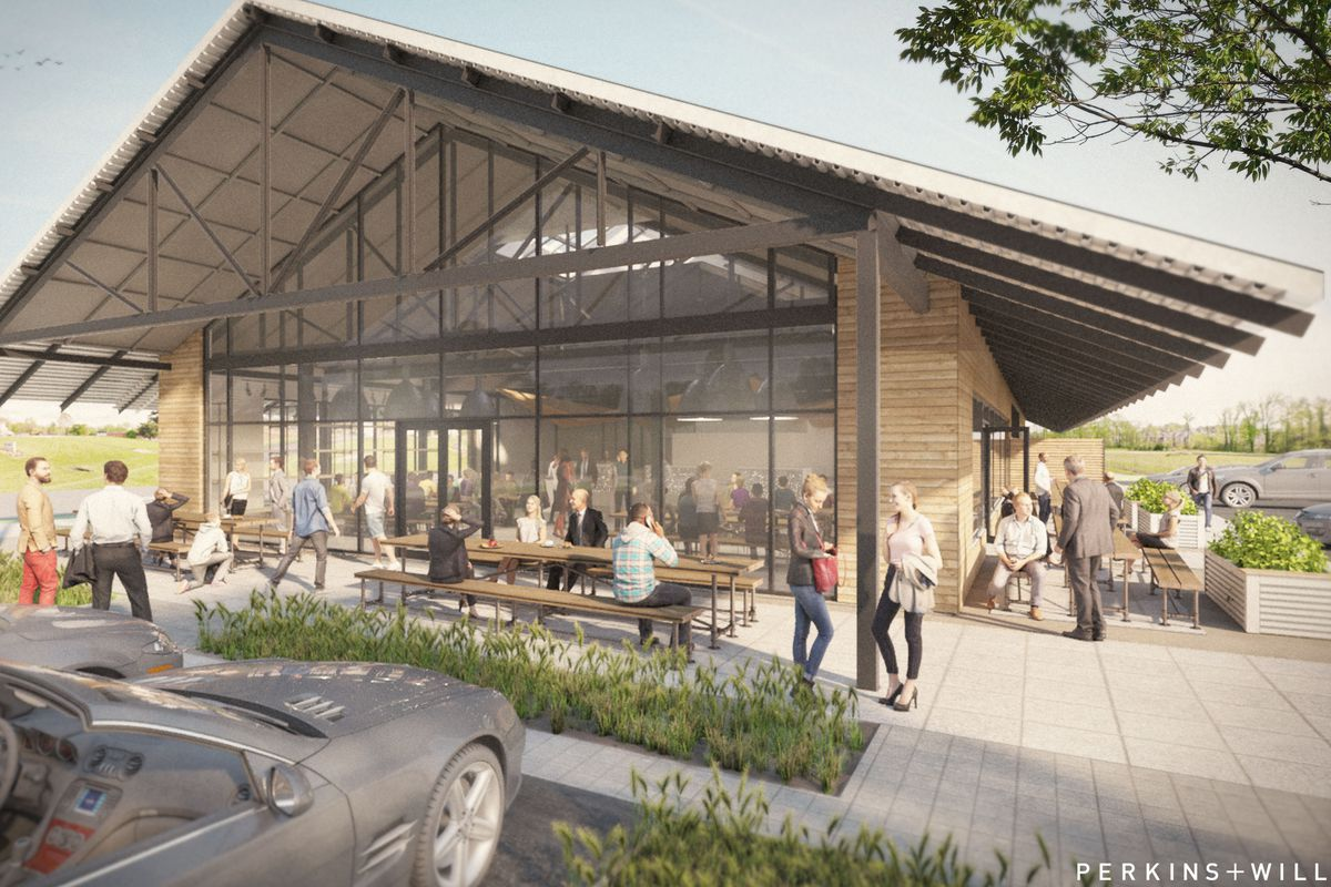 A rendering of the new building that will house Star Provisions and Bacchanalia.