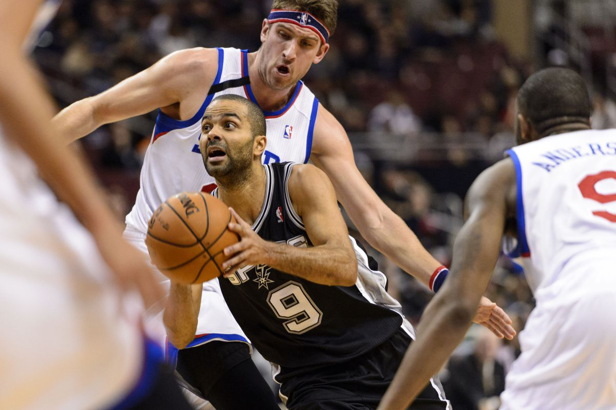Tony Parker barely had to play the fourth quarter of tonight's blowout Sixers loss.