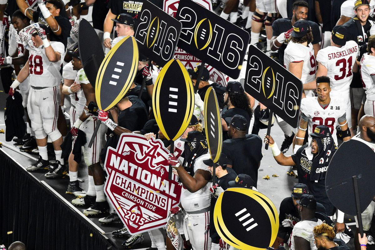 Alabama closes out the college football season as the National Champions.