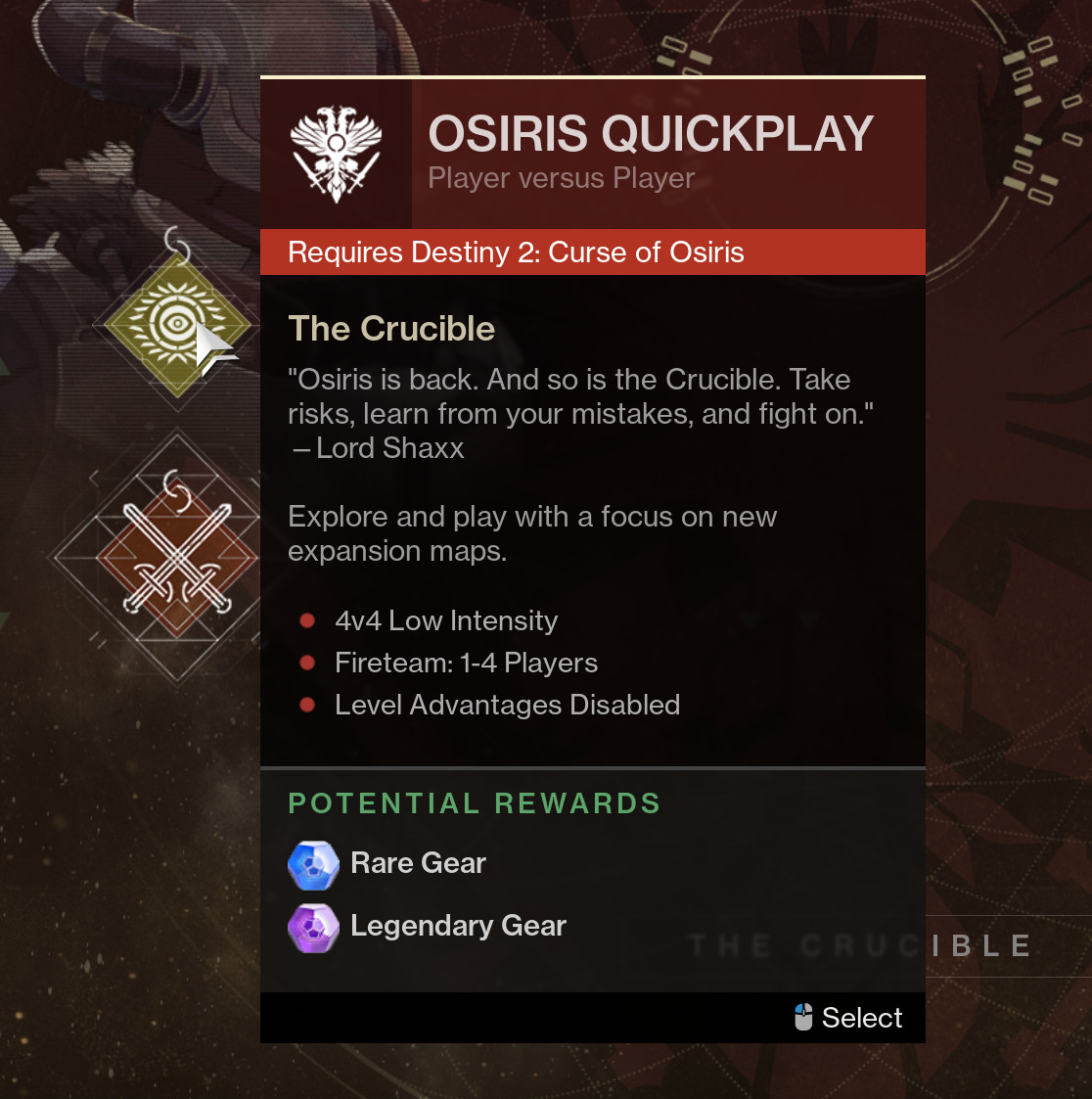 Some Destiny 2 Content Now Requires Curse Of Osiris Expansion