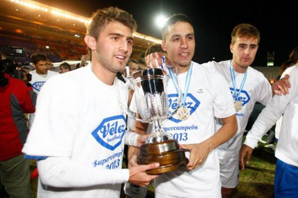 Peruzzi (L) after winning the Super Final