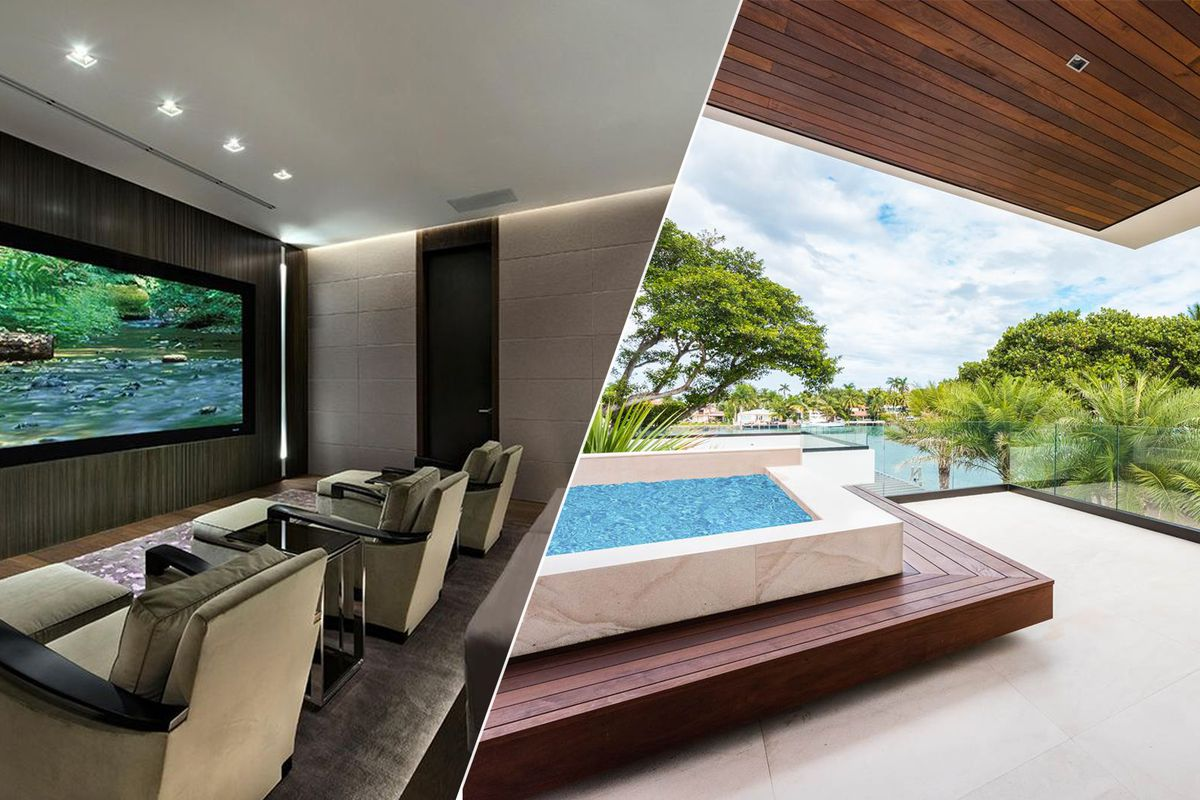 Pair of modern homes in miami beach list for 30m curbed for Modern architecture homes for sale