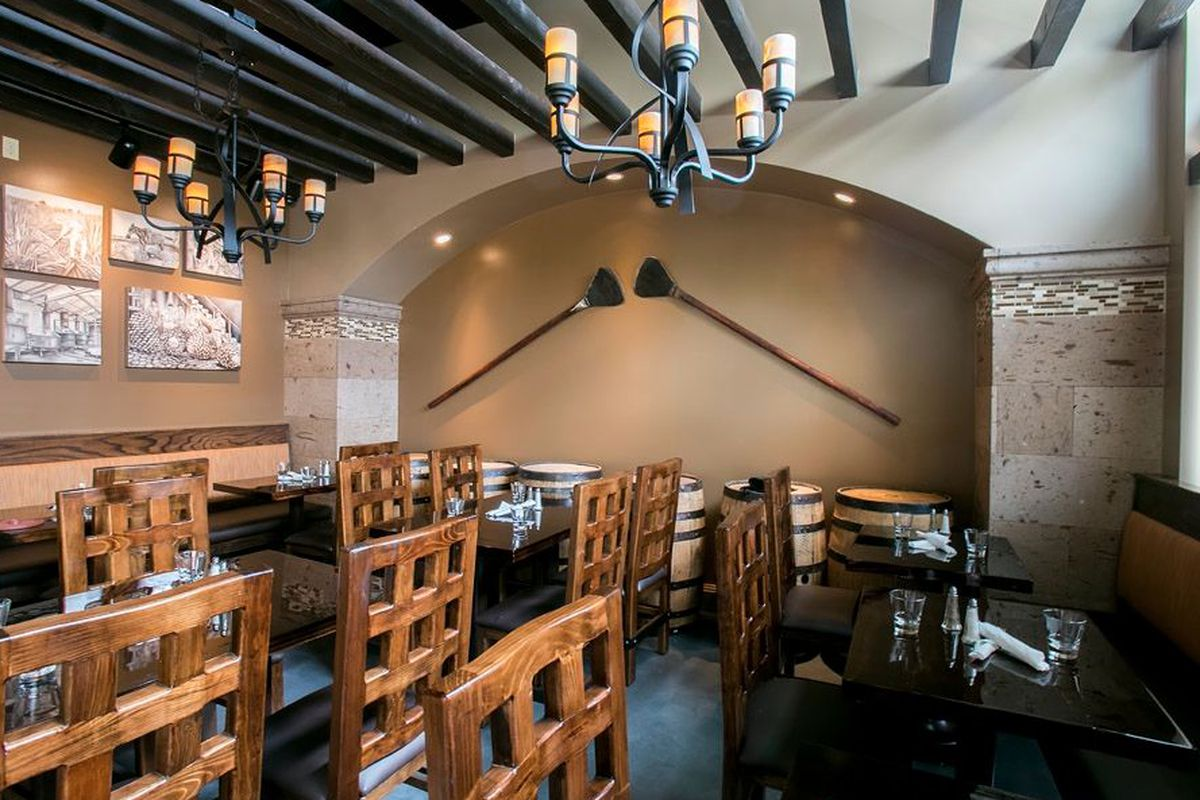 """<a href=""""http://seattle.eater.com/archives/2014/05/09/take-a-tour-of-queen-annes-new-agave-cocina.php"""">Agave Cocina, Seattle</a>."""