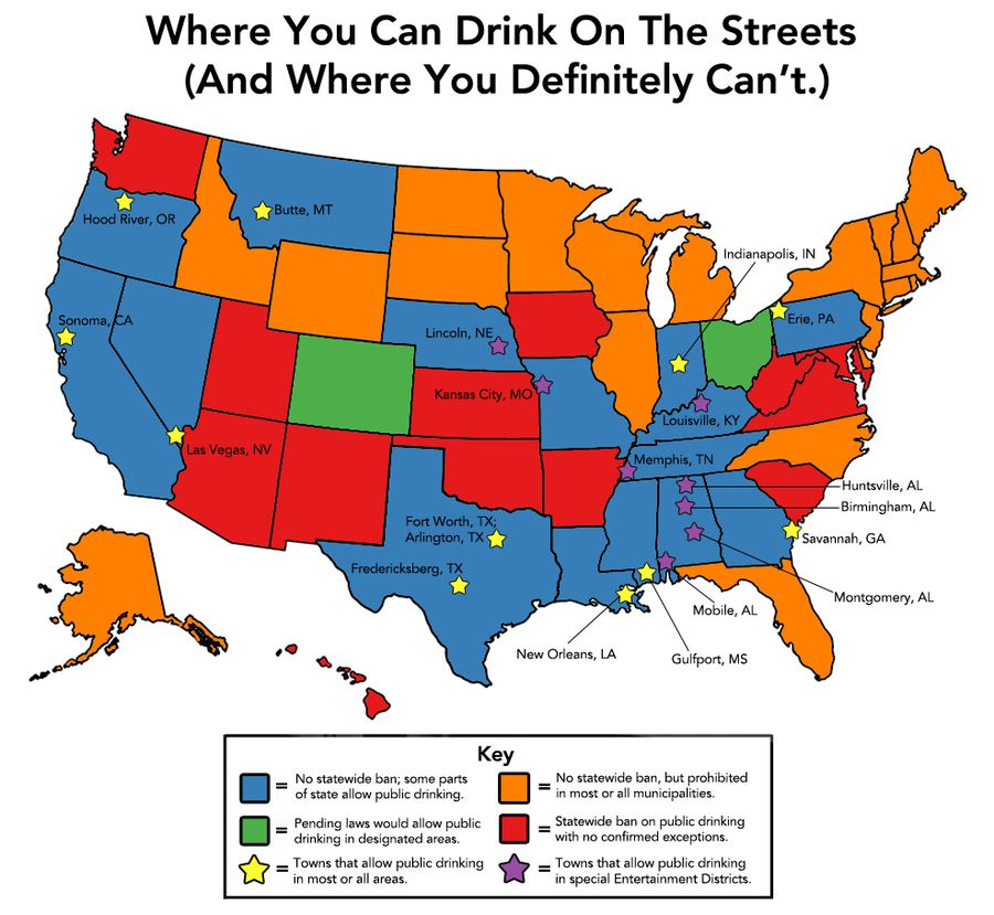 Where You Can Drink In Public In One Map Vox