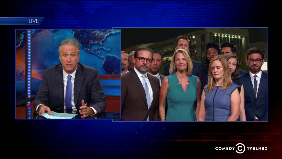 Many correspondents from the Daily Show's history returned.