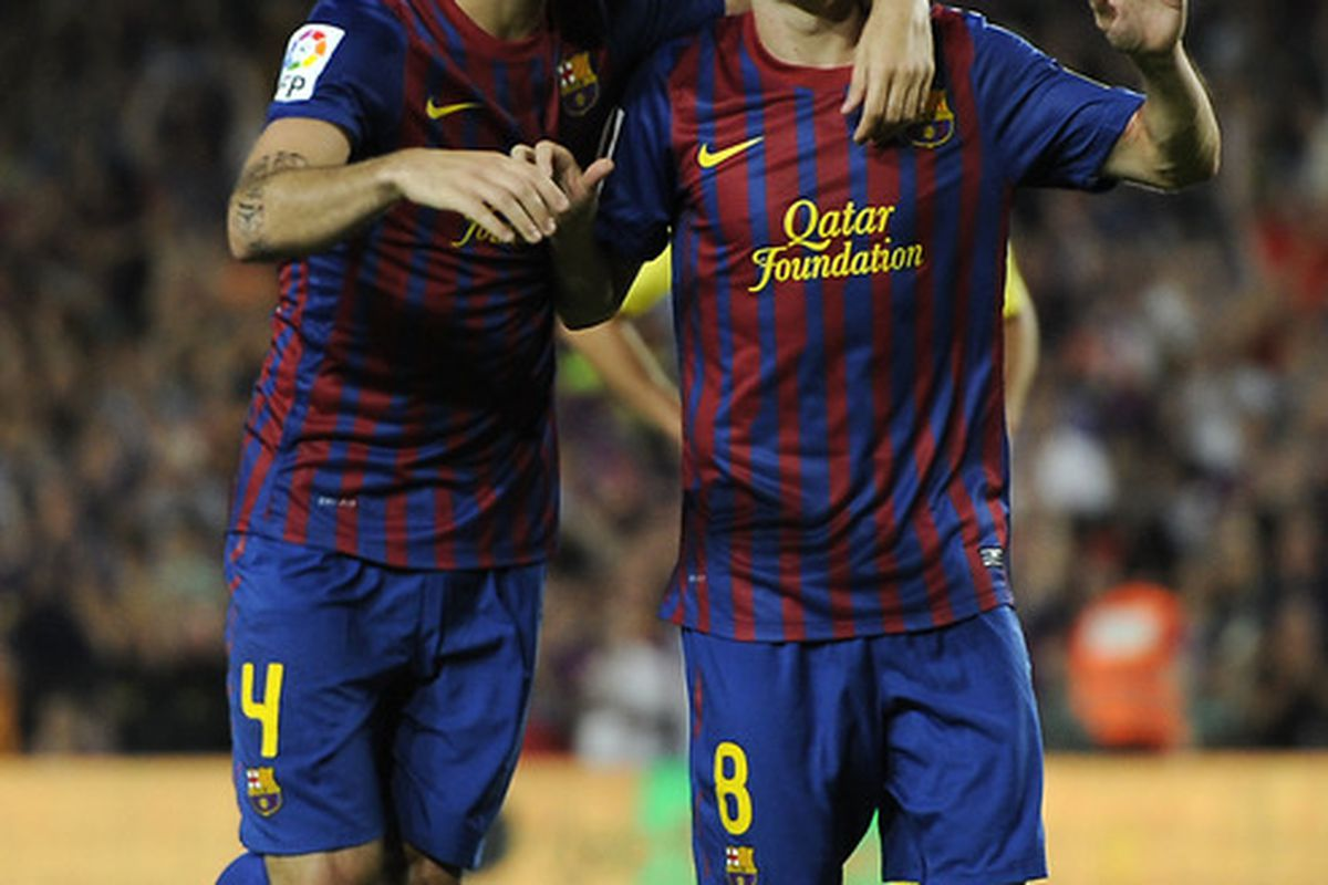Scoring five goals was not enough for Barcelona to go into the international break on top of the Primera División.
