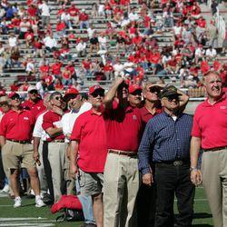The 1964 Liberty Bowl-winning team was honored at halftime of the Utah homecoming game in Salt Lake City, Utah Sept 25, 2004.