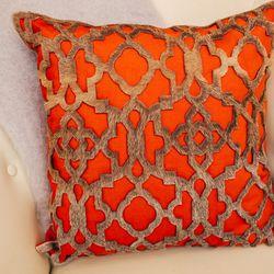 Red tribal Zig Zag pillow, $60