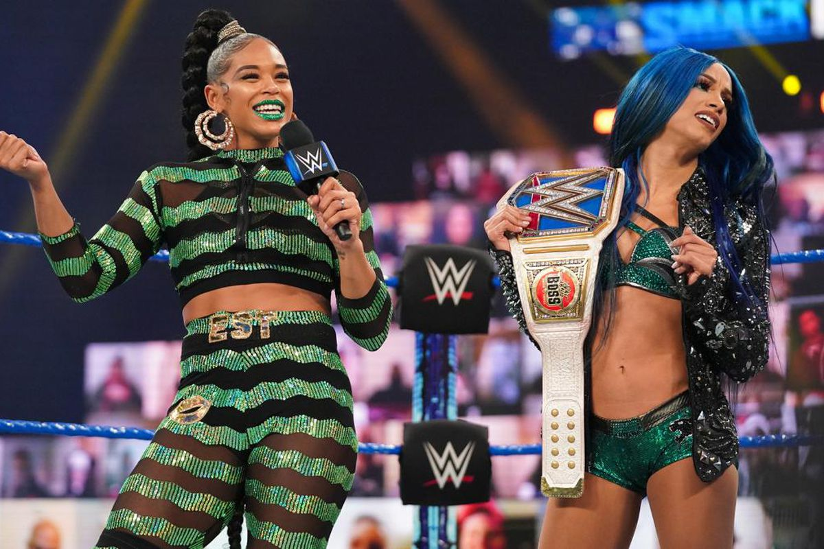Banks And Belair Will Need Flair S Help To Main Event Wrestlemania 37 Cageside Seats