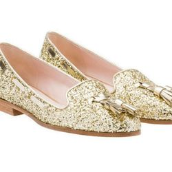 "<b>Miu Miu</b> Glitter Loafers, <a href=""http://www.miumiu.com/en/US/e-store/dep/shoes/cat/loafers/product/5S8518_3OVB_F0846_F_015?from_stl=58093#"">$495</a>"