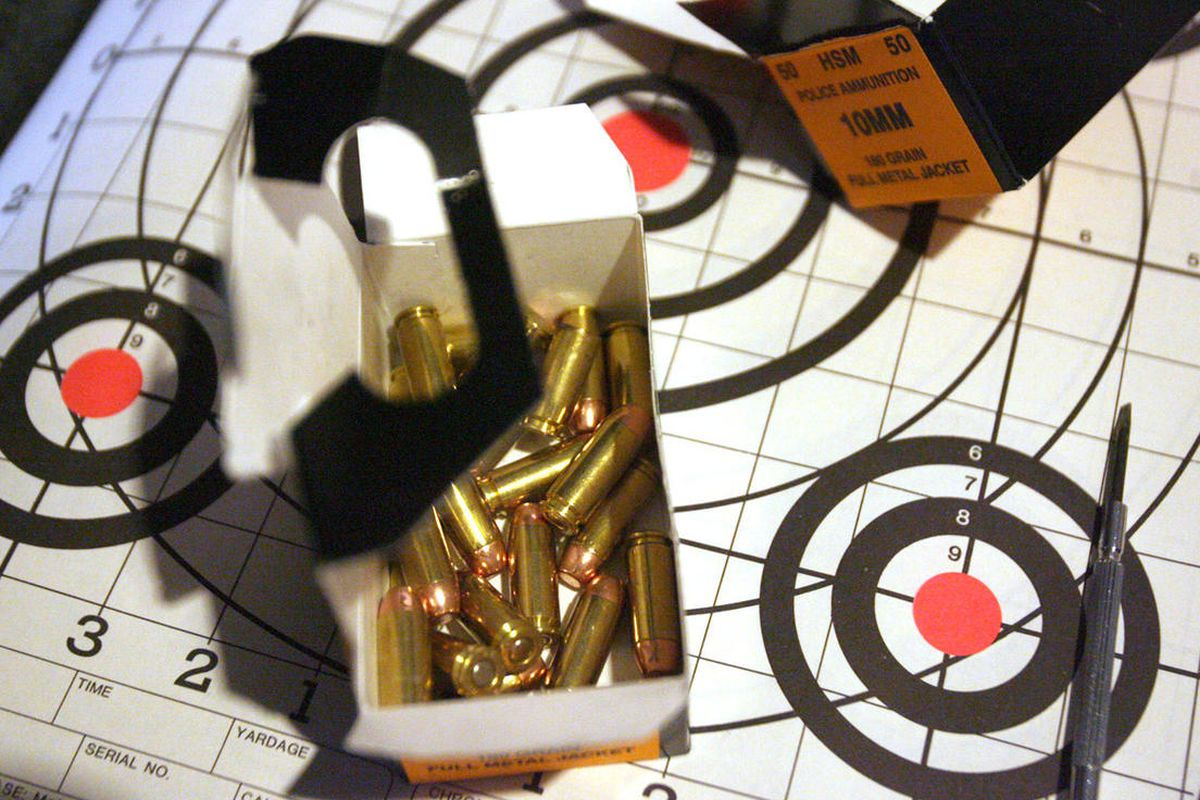 FILE - Detail of bullets and a target at Range Masters in Springville Thursday, August 2, 2007. The Bureau of Land Management has transferred ownership of 160 acres of public land in the Lake Mountains south of Salt Lake City to Utah County for constructi