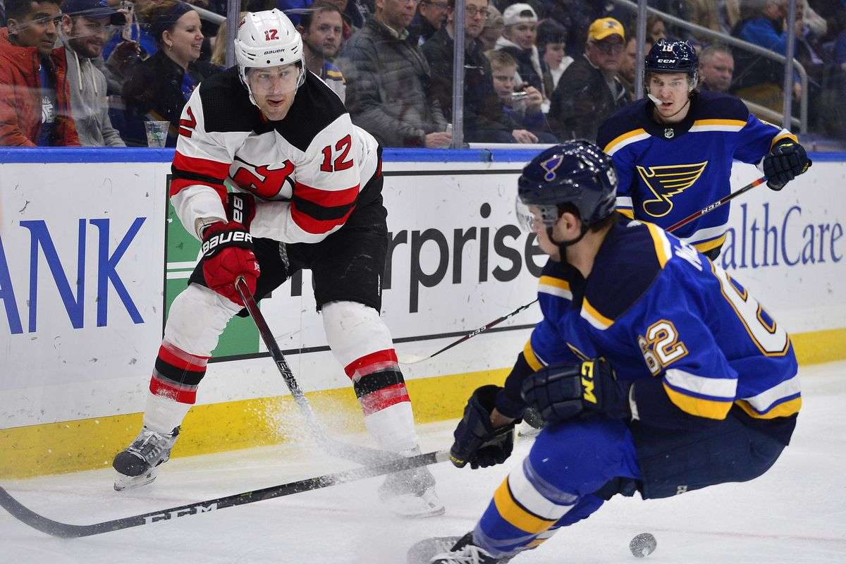 NHL: New Jersey Devils at St. Louis Blues